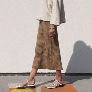 NWT Lauren Manoogian Origami Midi Skirt Camel 2